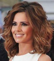 volumized wavy medium hairstyles