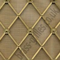 decorative woven wire | Regency Brass Decorative Grilles ...