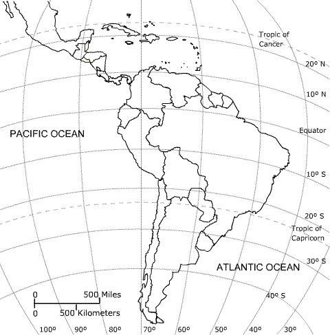 South America Blank Map. Repinned by Elizabeth VanBuskirk