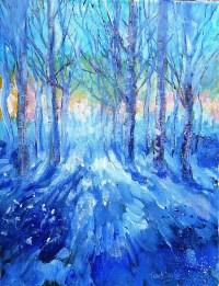 Sunset on,Eagle Hill - Original acrylic painting on canvas ...