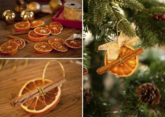 Cinnamon Stick Christmas Ornaments  Cinnamon Stick and Orange Slice Christmas Ornaments  Craft