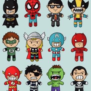 superheroes drawing marvel superhero heroes chibi draw super heros drawings dc google hero superheros kawaii characters стиле супергероев вечеринка character
