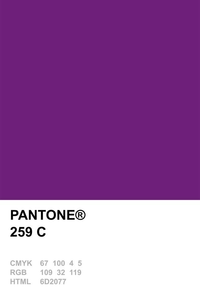 Pantone 259 C  Pantone Colour Recipes  Pinterest  Pantone
