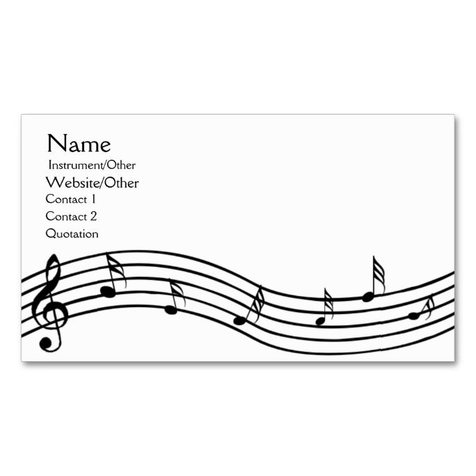 1000+ images about Music Business Card Templates on