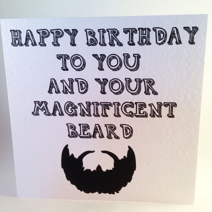 Birthday Card For Bearded Men Pognophile Beard Hipster