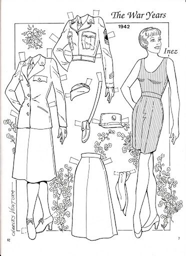 17 Best images about Paper Dolls Coloring Art Print Pages