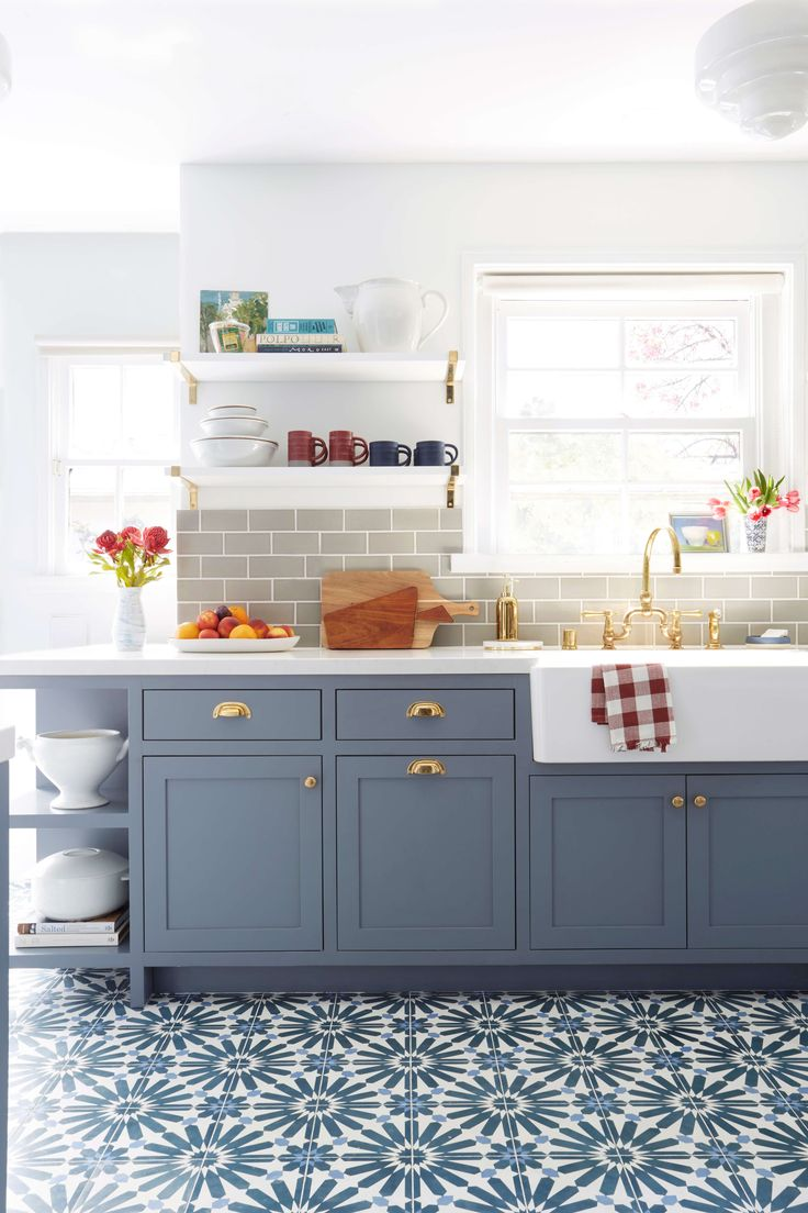 25 best ideas about Blue grey kitchens on Pinterest