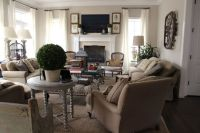 40 Cozy Living Room Decorating Ideas   Ceiling curtains ...