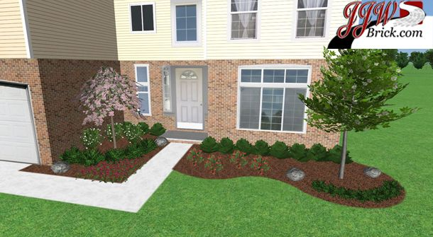 Simple Low Maintenance Front Yard #landscaping For A New