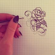 simple rose tattoo design