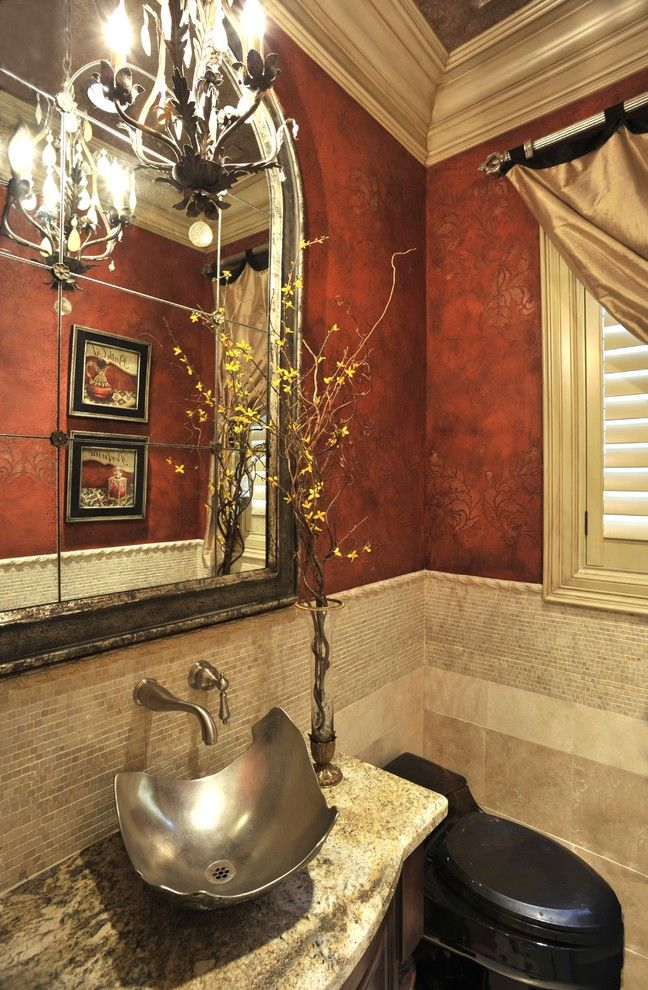 Powder Room  The Design Firm  Bathrooms  Pinterest