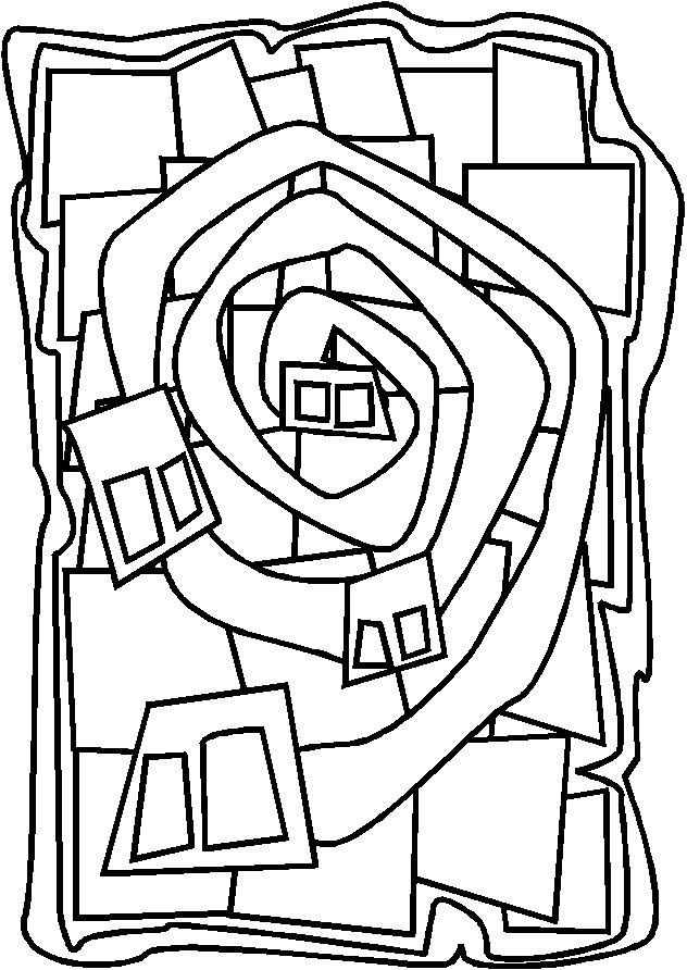 Paul Klee Coloring Pages Sketch Coloring Page
