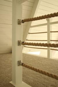 Nautical rope railing. Stainless steel boat bimini rail ...