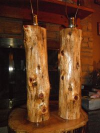 Cedar Log Lamps - For more pics and info, or to purchase ...