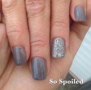 simple gel nail design short