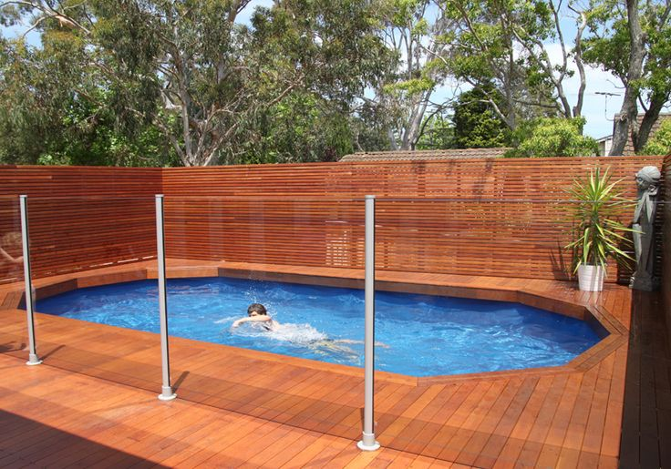 Riveting Deck Pool Designs Above Ground With Horizontal