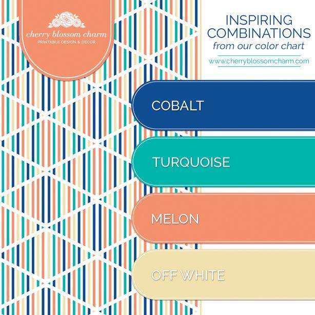 bright colour living room ideas sears furniture set color combinations | cobalt blue turquoise melon orange ...