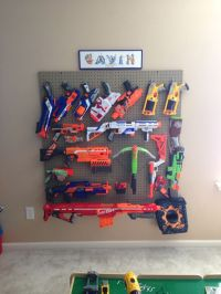 Nerf gun wall display | Ideas for the House | Pinterest ...