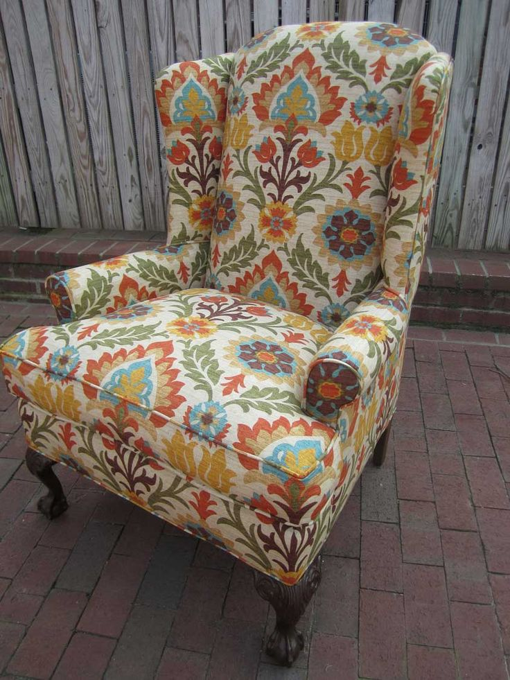 17 Best images about Wingback chair  Fabric Inspiration