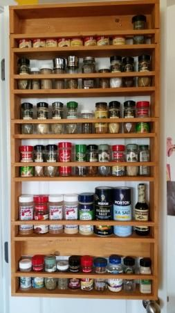kitchen cabinet organization candles door spice rack from 2x4s | do it yourself home projects ...