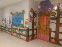 Fall door decoration..scarecrow...kept my poet trees | My ...