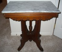 Antique Marble Top Table   Antique/Collectible Furniture ...