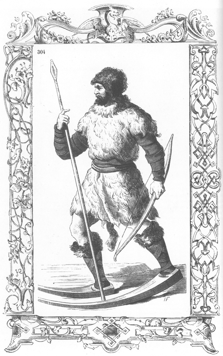 English: A man from Finland depicted in Cesare Vecellio