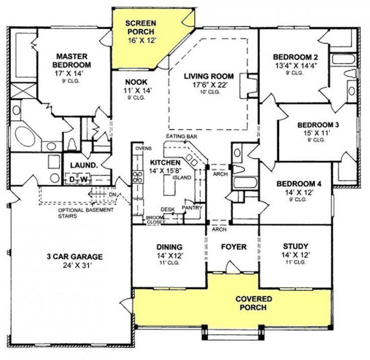 25+ best ideas about 4 Bedroom House Plans on Pinterest