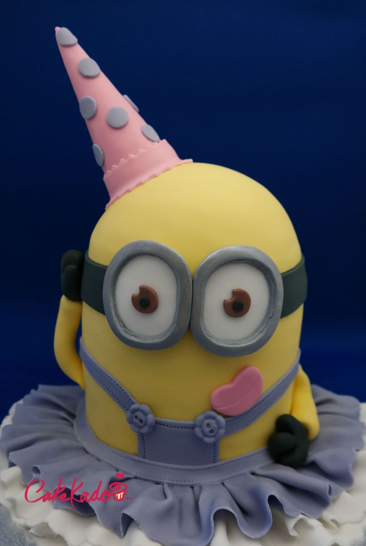 Cute Party Girl Minion Cake With Ruffled Skirt Cakes