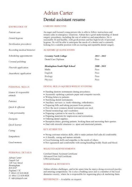 dental hygiene resume template