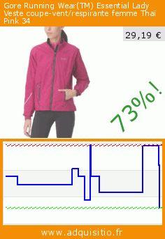 gore running weartm essential lady veste coupe vent respirante femme thai