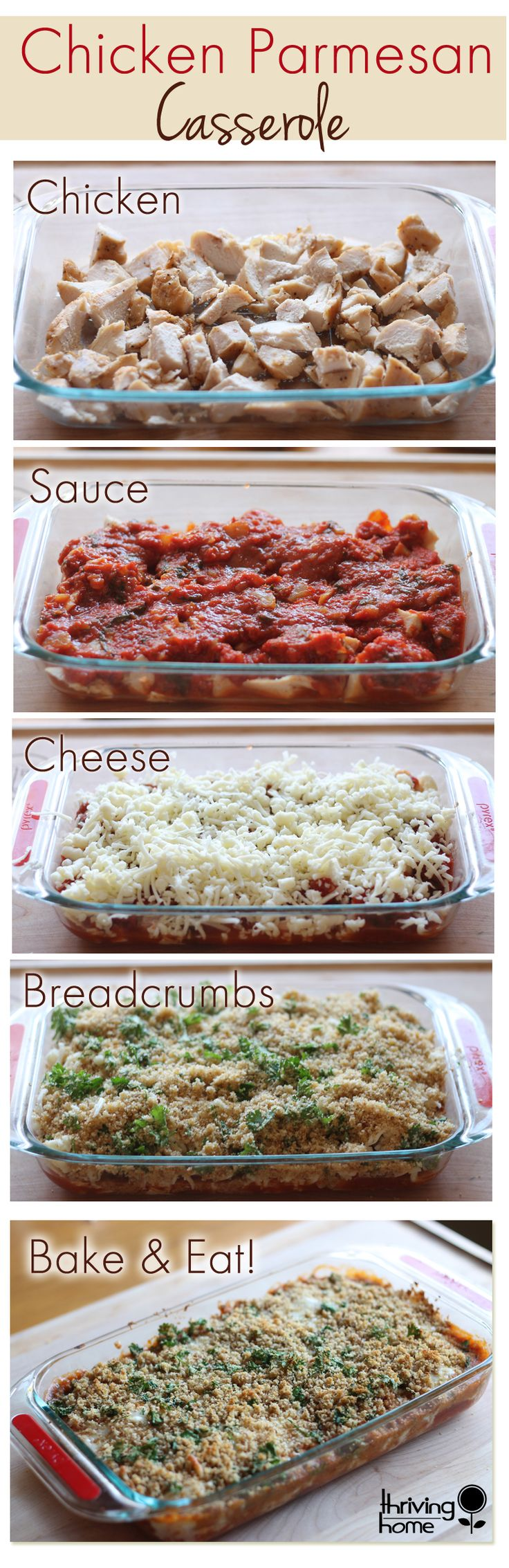 Chicken Parmesan Casserole Recipe…could add some spinach or something too