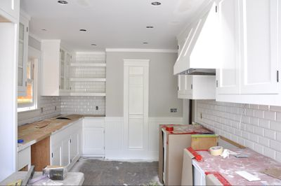 best kitchen hoods ready made island for paint colors / benjamin moore - shoreline and simply white ...