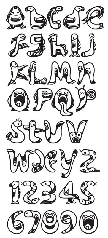 10 Best images about Illustrated Letters on Pinterest