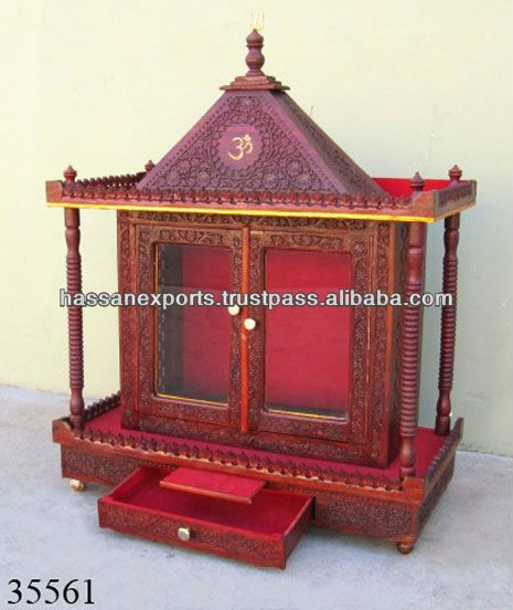 Hand Crafted Indian Wooden Temple  Buy Wooden TempleCarved Wooden Home TempleWooden Indian