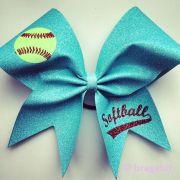 softball bows ideas