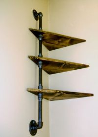 Corner Pipe Shelf Industrial Shelves Three by ...