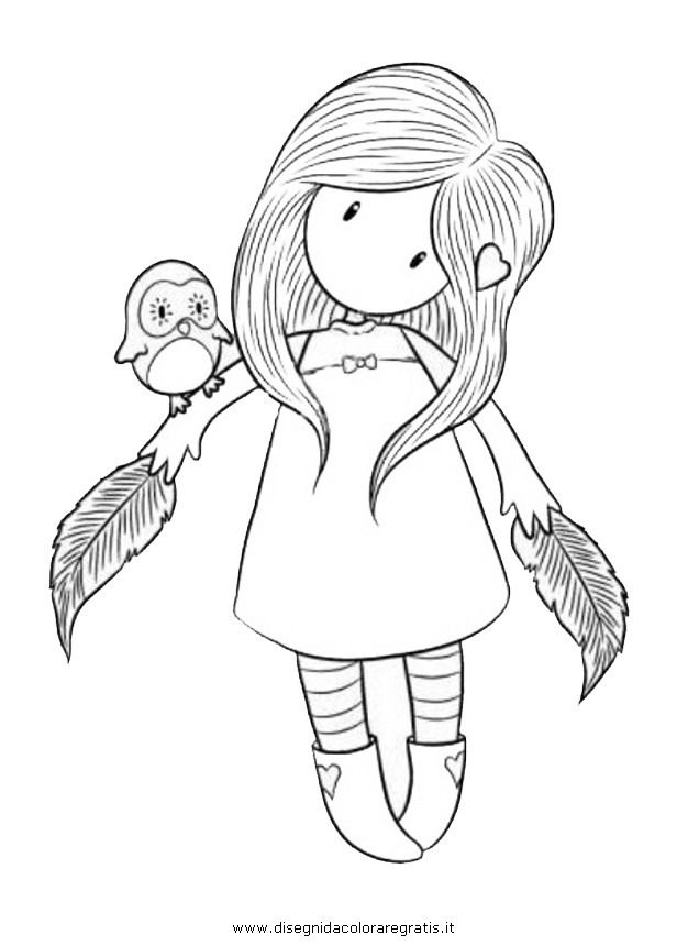 Gorjuss Girl Coloring Pages