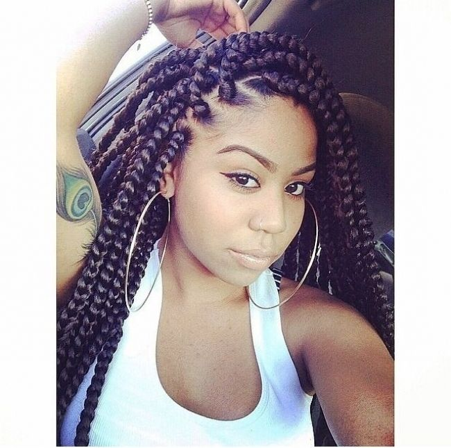 25 Best Ideas About Big Box Braids Hairstyles On Pinterest