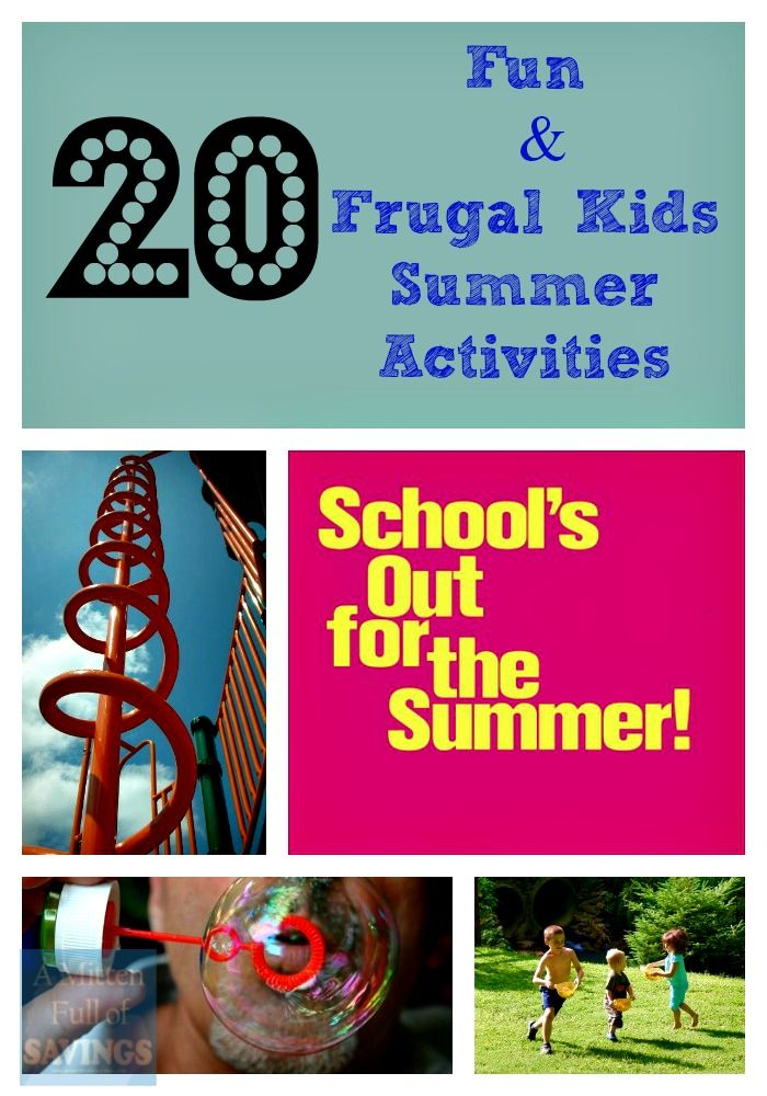 Boredom Busters 20 Fun And Frugal Kids Summer Activities  Activities, The O'jays And Summer