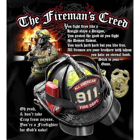 The Firemans Creed Tshirt  Firefighter Apparel  Firefightercom  firefighter  Pinterest