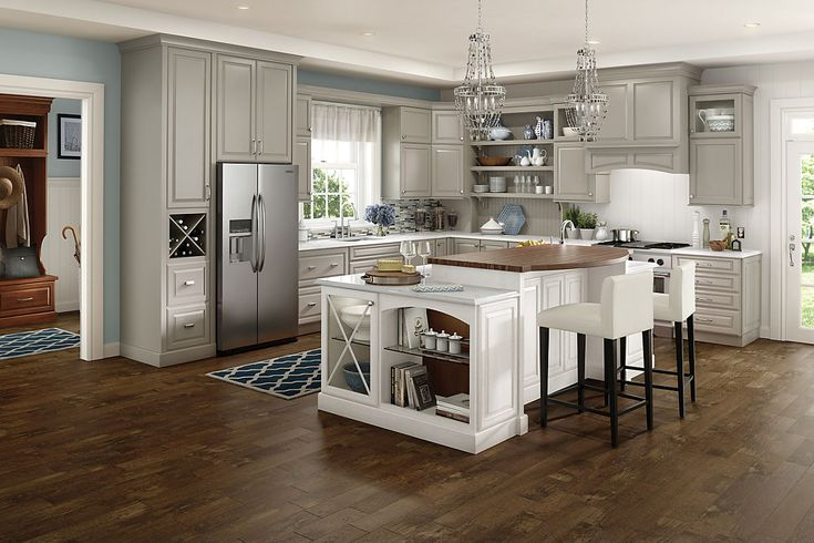 Maple Harbor Mist Cabinet By Schuler Available At Lowes