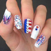 firework nails ideas