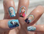 disney frozen nail art. nails