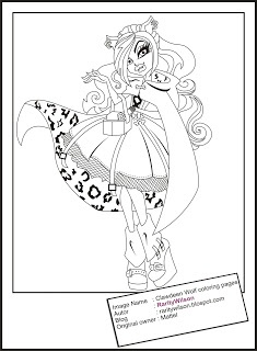 18 best images about Monster high coloring pages on