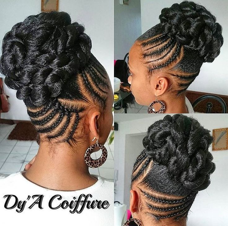 25 Best Ideas About Black Braided Hairstyles On Pinterest Black