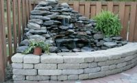 corner fountain with retaining wall | Landscaping: Water ...