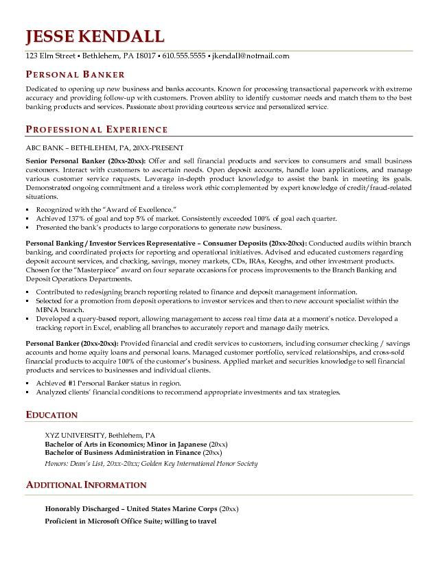 Example Of Resume Personal Information