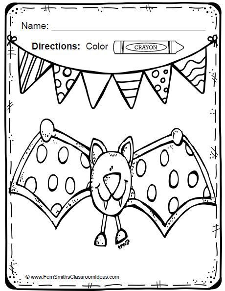 Spiders and Bats Fun! Color For Fun Printable Coloring