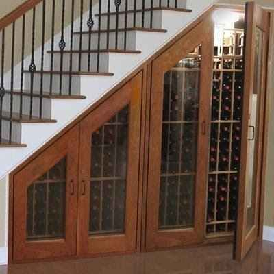 Another option for under the basement stairs: wine cellar! 31 Insanely Clever Remodeling Ideas For Your New